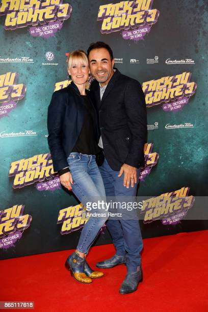 Adnan Maral and his wife Franziska Maral attend the 'Fack ju Goehte 3' premiere at Mathaeser Filmpalast on October 22 2017 in Munich Germany
