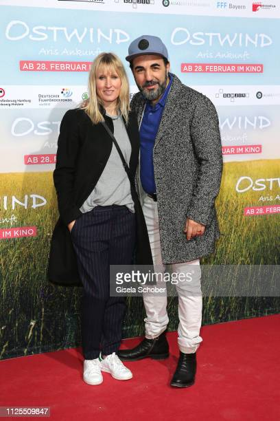 Adnan Maral and his wife Franziska Maral during the premiere of the film 'Ostwind Aris Ankunft' at Equilaland on February 17 2019 in Munich Germany