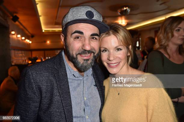 Adnan Maral and Nina Gnaedig during the NdF after work press cocktail at Parkcafe on March 14 2018 in Munich Germany
