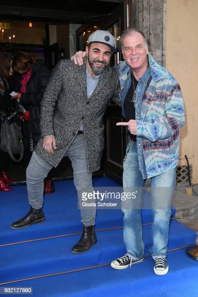 Adnan Maral and Wolfgang Fierek during the NdF after work press cocktail at Parkcafe on March 14 2018 in Munich Germany