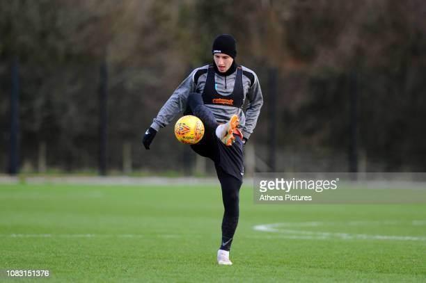 Adnan Maric of Swansea City in action during the Swansea City Training at The Fairwood Training Ground on January 15 2019 in Swansea Wales