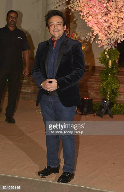 Adnan Sami during the wedding reception of stylist Shaina Nath daughter of Rakesh Nath in Mumbai