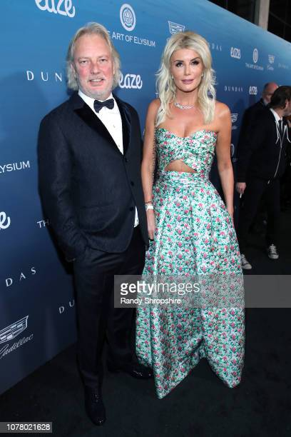 Adnan Sen and Begum Sen attends Michael Muller's HEAVEN presented by The Art of Elysium on January 5 2019 in Los Angeles California