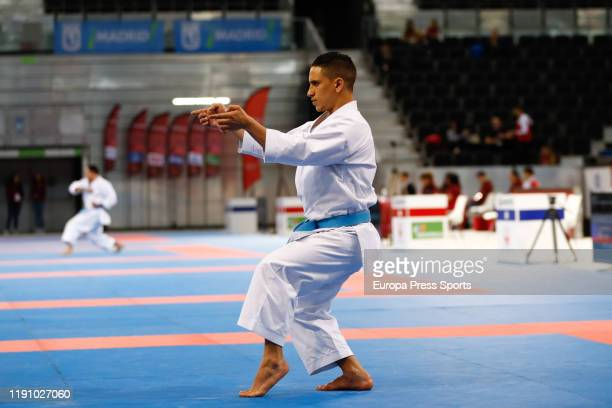 Adnane El Hakimi of Morocco in action during the Premier League of Karate 1 celebrated at Madrid Arena on November 30 2019 in Madrid Spain