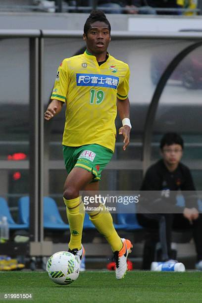 Ado Onaiwu of JEF United Chiba in action during the JLeague second division match between JEF United Chiba and Zweigen Kanazawa at the Fukukda Denshi...