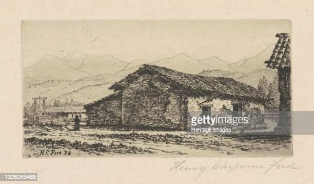 Adobe House, 1888. Artist Henry Chapman Ford.