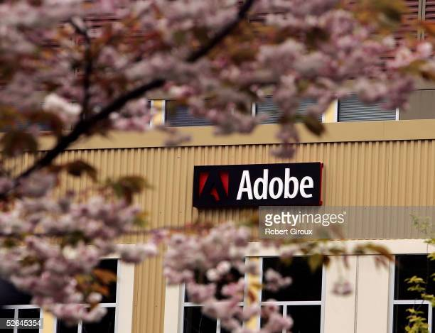 Adobe's Freemont offices are seen April 18 2005 in Seattle Washington Adobe Systems Inc one of the worlds largest providers of documentdesign...