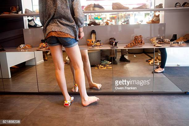adolescent shopping for shoes - 7894 stock pictures, royalty-free photos & images
