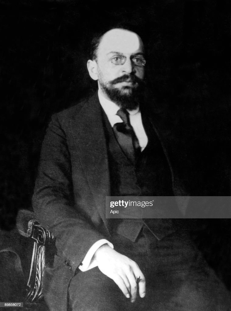 Adolf Abramovich Joffe (1883-1927) soviet revolutionary, he negociated Brest-Litovsk treaty in 1918, he was soviet ambassador in Berlin : News Photo