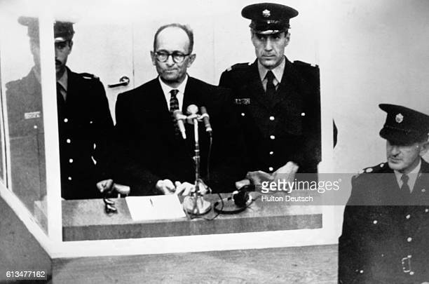 Adolf Eichmann a Nazi war criminal executed in 1961 for crimes against humanity