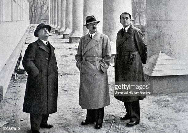 Adolf Hitler 18891945 German politician with his architects professor Gall and Albert Speer in Berlin 1937