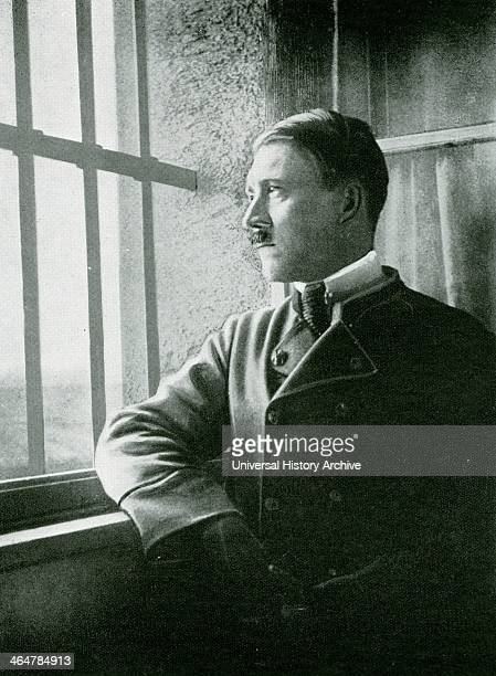 Adolf Hitler a political prisoner in the Fortress of Landsberg after the failure of the Munich Beer Hall Putrsch of November 1923