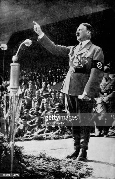 Adolf Hitler addressing a rally c1930s