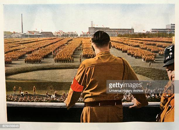 Adolf Hitler Addressing Rally of SA Troops Dortmund Germany 1933