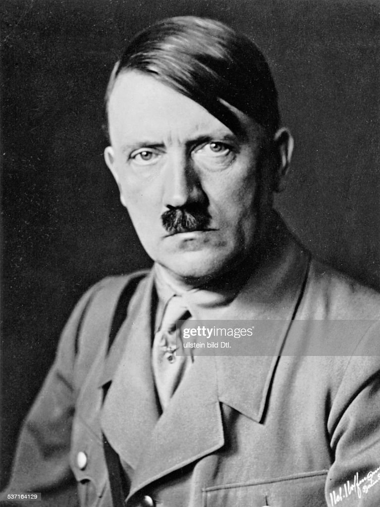 Adolf Hitler Adolf Hitler *20.04.1889-30.04.1945+ Politician, Nazi Party, Germany - portrait photo: Heinrich Hoffmann - : News Photo
