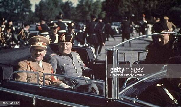 Adolf Hitler and Benito Mussolini 1936