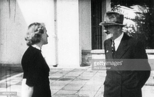 Adolf Hitler and Eva Braun Berchtesgaden Bavaria Germany c19361945 Eva Braun came to live with Hitler at the Berghof his residence in the Bavarian...