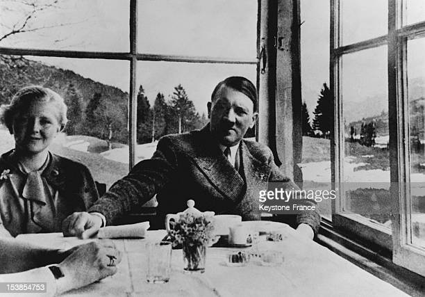 Adolf Hitler and Eva Braun in the Thirties Germany