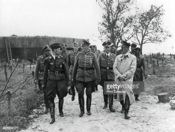 Adolf Hitler and General Wilhelm Keitel inspecting the Maginot Line France 1940 France built the system of fortifications known as the Maginot Line...