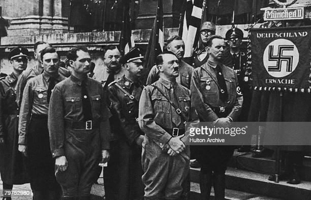 Adolf Hitler and Heinrich Himmler , circa 1933.
