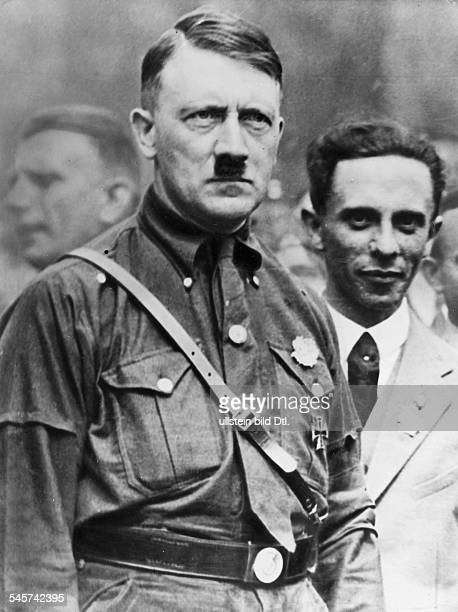 Adolf Hitler and Joseph Goebbels in Nuremberg after the 3rd Party conference Photographer Paul Mai Vintage property of ullstein bild