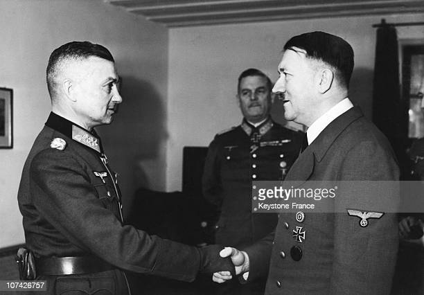 Adolf Hitler And Marshal Walter Model In Germany On 1942