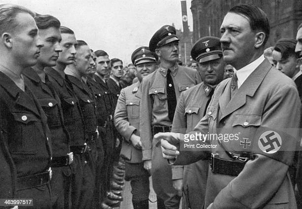 Adolf Hitler and Robert Ley head of the German Labour Front Nuremberg Germany 1935 Hitler and Ley at the Nuremberg Rally A print from Adolf Hitler...