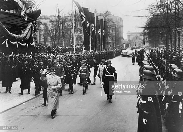 Adolf Hitler arriving at the Kroll Opera House or Krolloper to open the Reichstag 20th July 1938