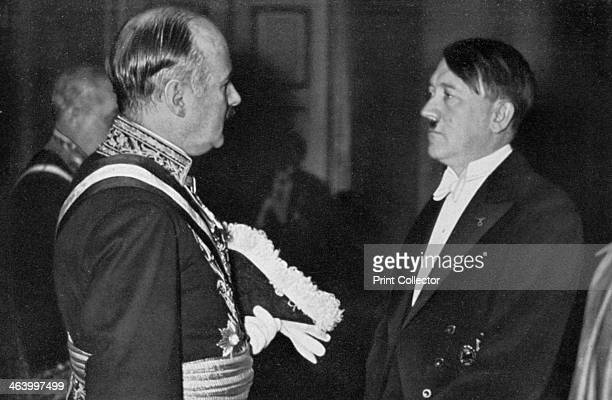 Adolf Hitler at a New Year's reception 1934 Hitler in conversation with France's ambassador to Germany André FrançoisPoncet FrançoisPoncet was...