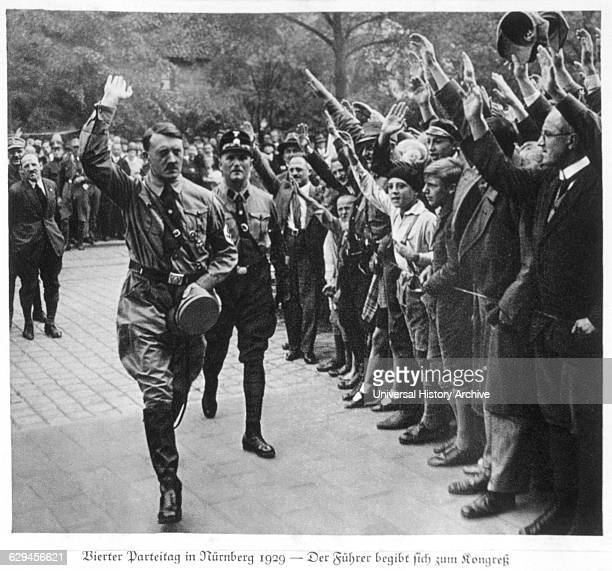 Adolf Hitler at the Fourth Party Day Rally Nuremberg Germany 1929