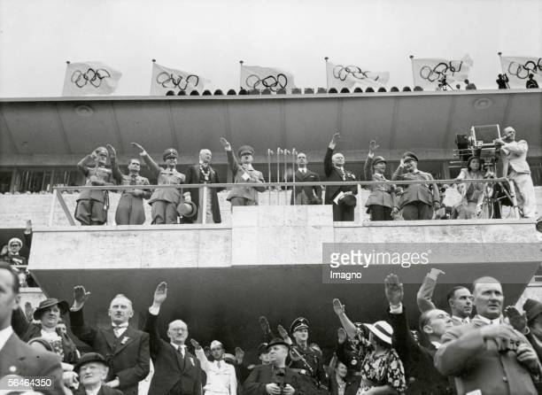 Adolf Hitler at the opening of the Olympic Games in Berlin in 1936 Germany Photography 1936 [Adolf Hitler eroeffnet die Olympischen Spiele in Berlin...