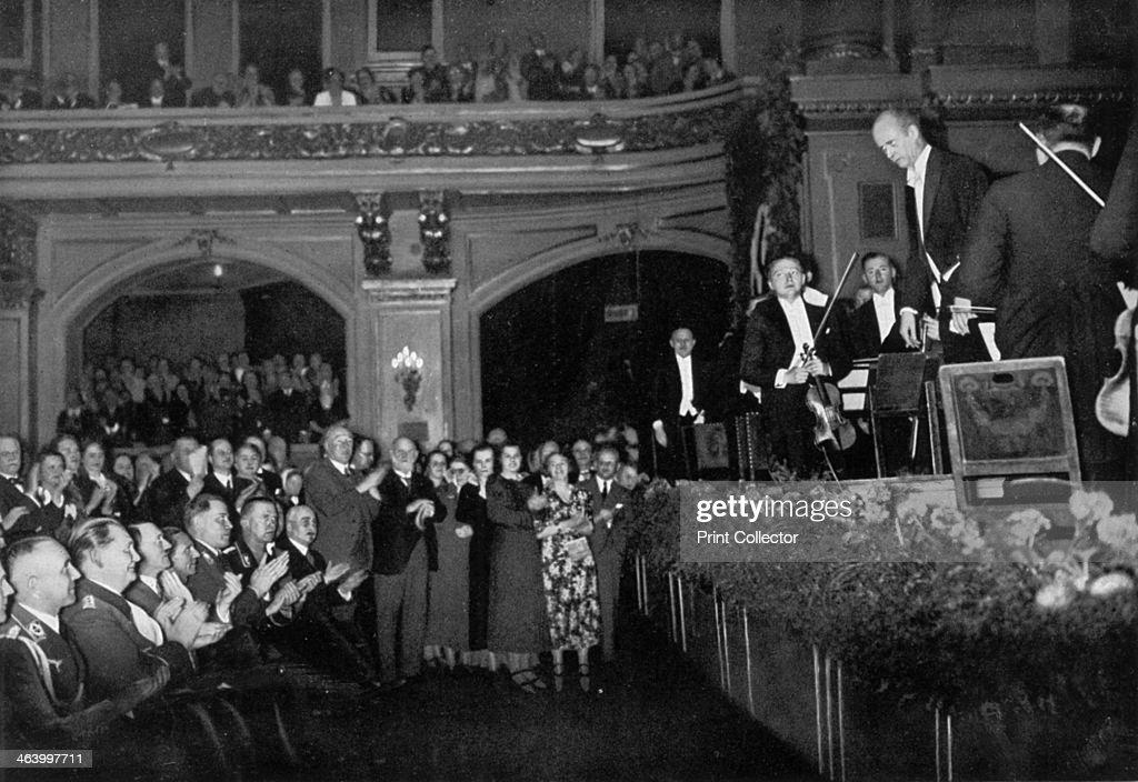 Adolf Hitler attending a concert, Berlin, Germany, 1936. : News Photo