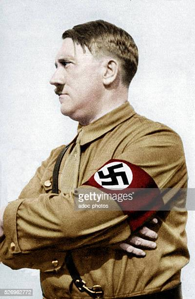 Adolf Hitler Austrianborn German statesman Ca 1930 Coloured photograph