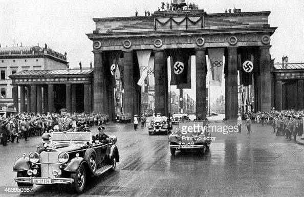 Adolf Hitler Brandenburg Gate Games Of The Xi Olympiad