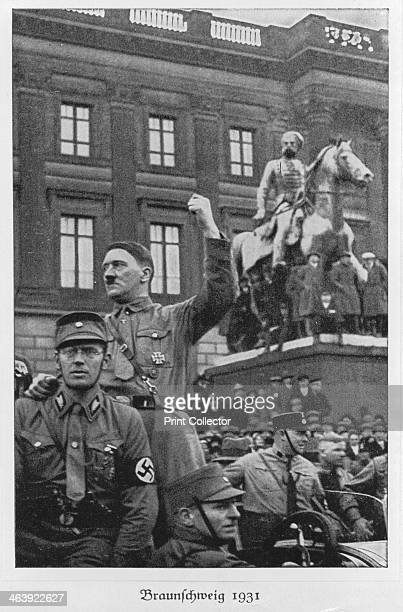 Adolf Hitler Brunswick Germany 1931 German dictator Adolf Hitler became leader of the National Socialist German Workers party in 1921 After an...