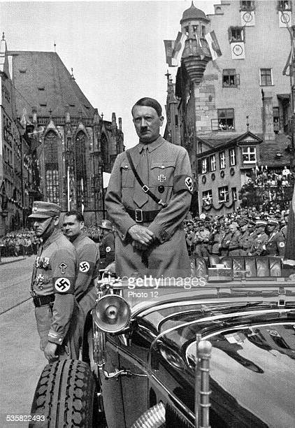 Adolf Hitler. Celebrating freedom and political parties. The F?hrer waiting for the Sturmabteilung .
