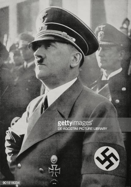 Adolf Hitler during a speech in Berlin on January 30 Germany World War II from L'Illustrazione Italiana Year LXVIII No 6 February 5 1941
