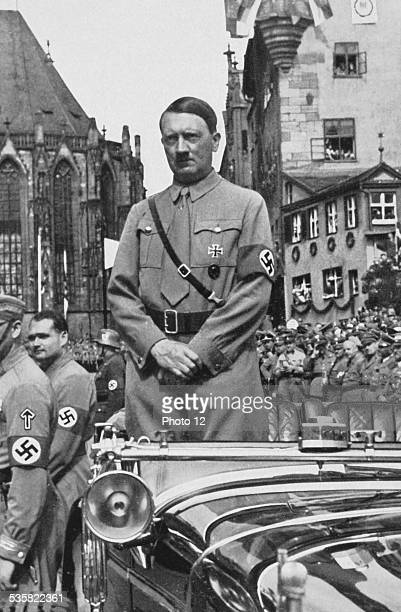 Adolf Hitler during the Congress of Freedom waiting for the arrival of the SA known as 'Brown Shirts' Weimar Republic