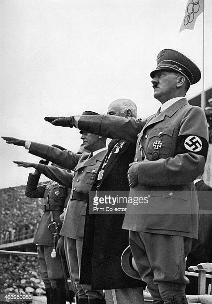 Adolf Hitler Games of the XI Olympiad Berlin 1936 A print from Olympia 1936 Die Olympischen Spiele 1936 Volume II CigarettenBilderdienst Hamburg 1936