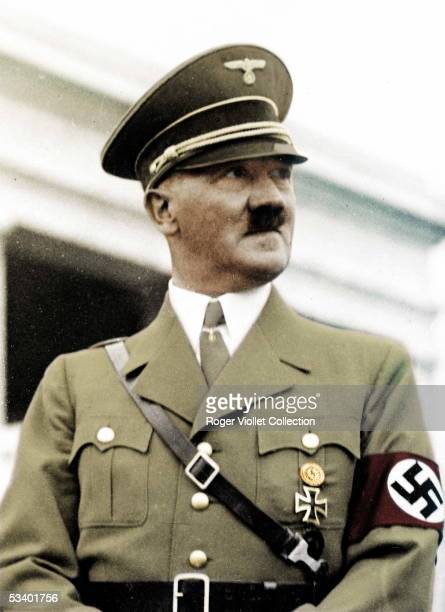 Adolf Hitler German statesman Colourized photo