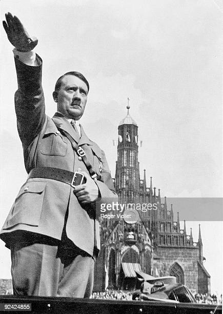 Adolf Hitler , German statesman, on the annual meeting day of the Party, 1934.