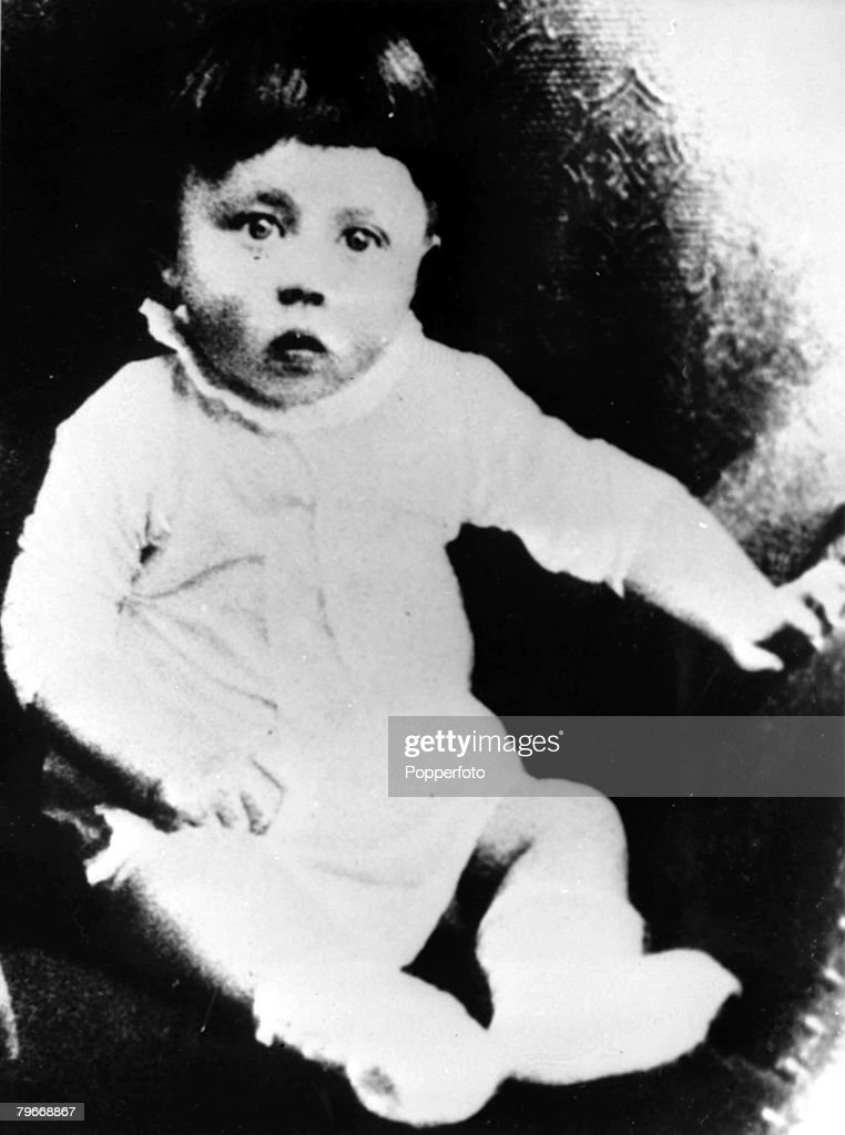 Adolf Hitler (1889-1945), Germany, Circa 1889, A baby picture of Adolf Hitler, the Nazi leader who led Germany during World War II