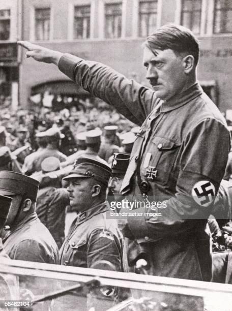 Adolf Hitler Germany Photography about 1930 [Adolf Hitler bei einer Veranstaltung Deutschland Photographie Um 1930]