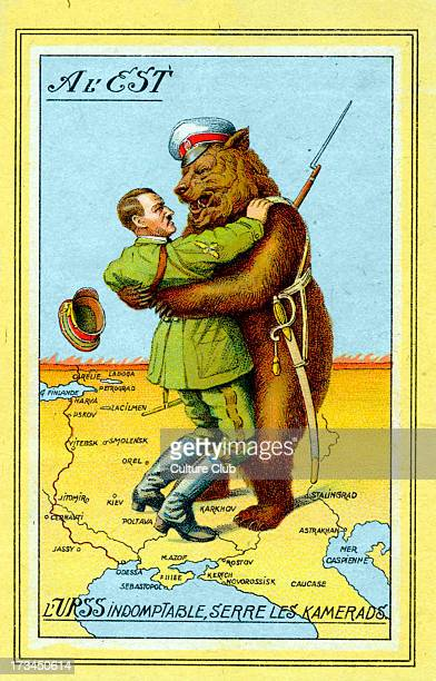 Adolf Hitler grappling with Russia cartoon Austrianborn German politician and the leader of the National Socialist German Workers Party 20 April 1889...