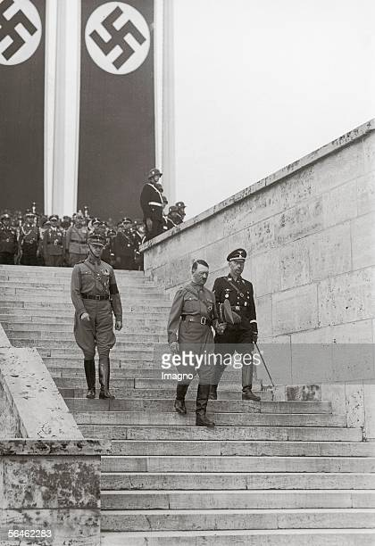 Adolf Hitler Heinrich Himmler and SA chief Viktor Lutze during the convention of the NSDAP 1937 Nuremberg Germany Photography [Adolf Hitler Heinrich...