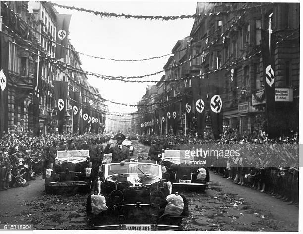 Adolf Hitler in a parade celebrating his return to Berlin from Paris June 1940