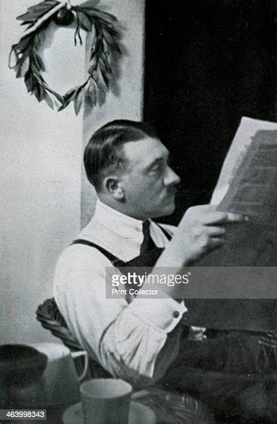 Adolf Hitler in his cell in the Landsberg fortress Bavaria Germany 1924 Hitler spent 8 months in prison at Landsberg for his part in the Munich Beer...