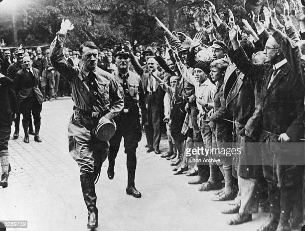 Adolf Hitler leader of the German National Socialist Party during a visit to Munich