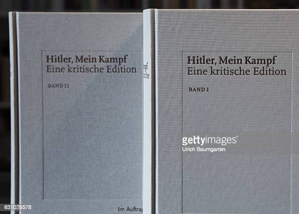Adolf Hitler Mein Kampf The photo shows book 1 and book 2 of the critical edition of the original book