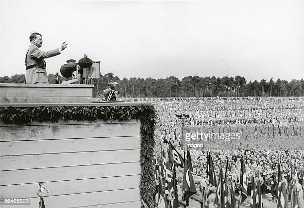 Adolf Hitler on the Reichsparteitag of the National Socialist German Workers' Party in Nuremberg September 1935 Photography [Adolf Hitler am...